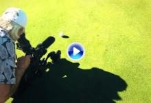 DJ realizó un backspin perfecto para evitar golpear a una cámara en el green del Riviera (VÍDEO)