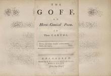 El primer libro de golf de la historia (1743), a subasta. Se espera que alcance los 60mil$