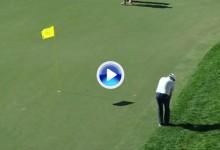 El Golf es duro: El filazo de Steve Marino envió la bola al agua estando a 4 mts. de la bandera (VÍDEO)