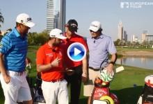 Sullivan, Pieters, Wisberger y Uihlein improvisaron una competición de golf… ¡sin palos! (VÍDEO)