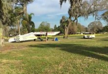 Un piloto logra salir ileso de un accidente gracias a un aterrizaje de emergencia en un campo de golf