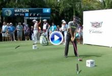 ¡¡Boooomm!! Un cañonazo de Bubba Watson deja la bola a 3 mts. de bandera desde más de 280 (VÍDEO)