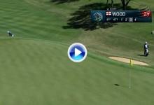 Esta fantástica y espectacular sacada de bunker de Chris Wood podría ser el golpe del torneo (VÍDEO)
