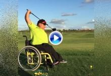 Así pega al driver Sawtell 'bombardero' parapléjico campeón del mundo en silla de ruedas (VÍDEO)