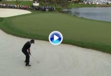 Esta magistral sacada de bunker de Jason Day en el 18 le dio la victoria en el Arnold Palmer (VÍDEO)