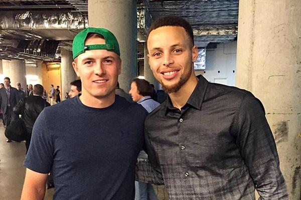 Jordan Spieth y Stephen Curry. Foto: Curry vía Instagram