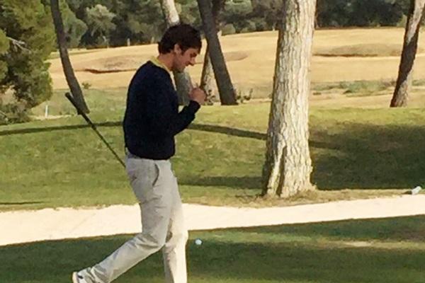 Jordi García del Moral tras el approach en el 18 de Maioris
