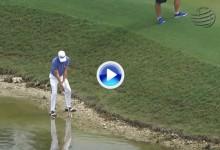 El Golf es duro: El Blue Monster entró de nuevo en acción, esta vez el perjudicado fue Thomas (VÍDEO)