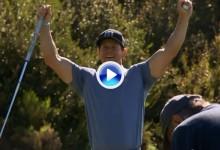 ¡Te la jugaron, Bubba! El actor Mark Wahlberg vence a Watson en un partido de golf con trampa (VÍDEO)