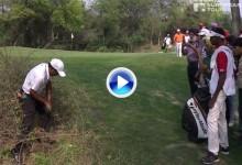 ¡Atención al stance y al golpe! Así se salva el par desde dentro de unos espinosos arbustos (VÍDEO)