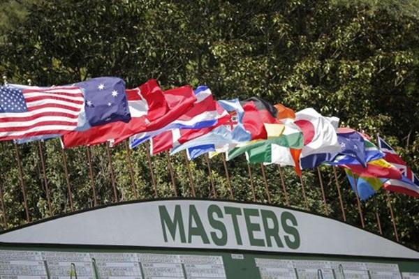 Banderas en el Masters. Foto: @TheMasters