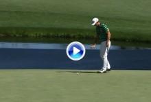 El Golf es duro: Horschel tiró para eagle pero anotó bogey al enviar el viento la bola al agua (VÍDEO)