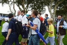 """El """"golfista"""" Gareth Bale fue una de las grandes atracciones en Valderrama"""