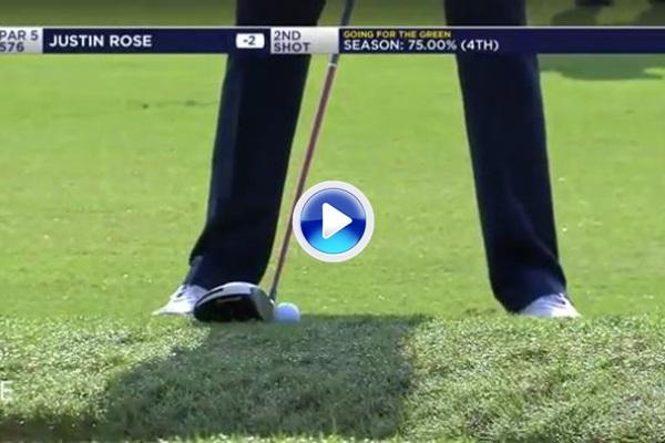 El Golf es duro: Rose jugó el driver desde el rough pero lo que le salió fue un… terrible hook (VÍDEO)