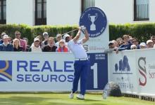 Larrazábal vence al viento y lidera en solitario el Open de España. Cañizares, Anglés y G.Pinto, Top10