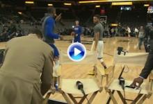 Así reaccionó Curry cuando le comunicaron que Spieth había hecho el cuádruplebogey (VÍDEO)