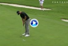 El Golf es duro: Una corbata de Scott y un golpazo de Grillo que se estrella contra la bandera (VÍDEO)