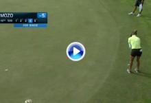 Belén Mozo sacó por dos veces el puño en el LPGA Volvik. Peleará por el título en Michigan (VÍDEO)