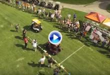 ¿Que no hay velocidad en el golf? El Virginian GC organizó una carrera de coches benéfica (VÍDEO)