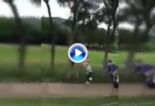 Cauley le dio un bolazo a un aficionado en el Byron Nelson mientras éste grababa el golpe (VÍDEO)