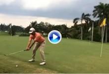 Le aseguramos que jamás habían visto un golpe parecido: Chip and Run de espaldas (VÍDEO)
