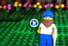 Un aficionado representa al canadiense Graham DeLaet haciendo un birdie ¡con piezas Lego! (VÍDEO)