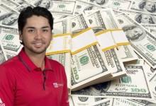 Jason Day, una máquina de hacer dinero. Gana 204.292 euros por ronda jugada, 11.349,5 por hoyo