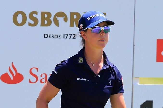 Nuria Iturrioz lidera en Zaudín. Foto: golfandphoto.com