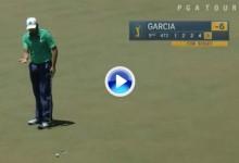 ¡¡Increible!! Sergio García realizó ¡6 putts! en el 5 de Sawgrass, 5 de ellos desde metro y medio (VÍDEO)