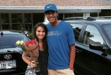 Finau le compró flores y bombones a una chica a la que había golpeado en la cabeza con una bola