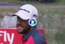 El Golf es duro: Esto le faltó a Otaegui para salir al PlayOff, la bola rozó el hoyo pero no entró (VÍDEO)