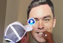 Lee plasma todo su arte en el dibujo añadiendo elementos a una cara gigante de Fowler (VÍDEO)