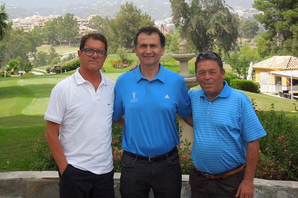 Fabio Capello, Andrés Sánchez y Juan Carlos Piñero