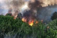 Así se vivió el incendio de La Galiana. Dramáticas imágenes que dan cuenta de ello (FOTOS y VÍDEO)