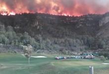 La Galiana Golf sirvió de cortafuegos en el incendio de Carcaixent. El trabajo del Club, excepcional