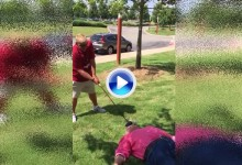 John Daly se pasa a los Trick Shots con un golpe complicado… y peligroso. Para él no, claro (VÍDEO)