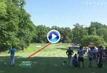 El Golf es duro: No todo es alegría en Bethesda, brutal escapada de Jon Rahm en el 13 (VÍDEO)