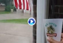Agua a raudales a 800 mts. de Oakmont. Kevin Na nos muestra la intensa lluvia desde su casa (VÍDEO)