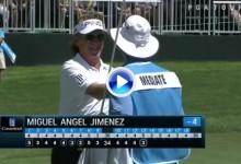 """John Daly y Rocco Mediate felicitaron a Miguel Ángel Jiménez por este  fantástico """"purazo"""" (VÍDEO)"""