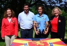 Paz Marfá se proclama Campeona de España amateur en presencia del Gran Capitán Olazábal