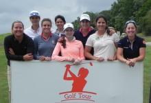 La catalana Carolina González y la madrileña Marta Sanz comparten liderato en Izki Golf