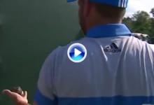 García ayudó a un pájaro herido después de su tremendo golpe en el 8 desde la arena (VÍDEO)