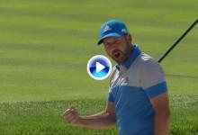 Sergio García gritó ¡¡vamoooss!! tras embocar desde la arena. Fabuloso golpazo del español (VÍDEO)