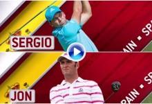No está nada mal: Un golpe de Jon Rahm y otro de S. García entre los 9 mejores del US Open (VÍDEO)
