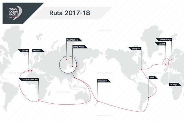 Volvo Ocean Race Ruta 2017-2018 español