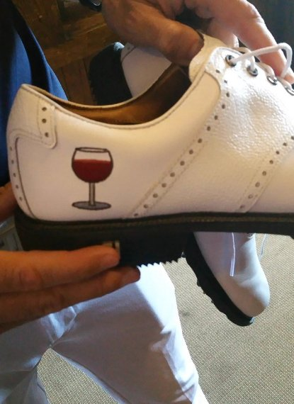 Zapatos Gregory Bourdy. Foto @GolfChannel