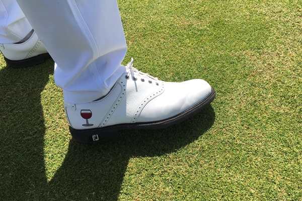 Zapatos de Gregory Bourdy en el US Open. Foto: @shanebacon