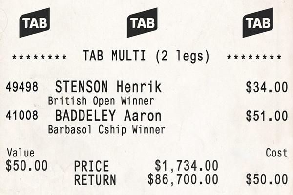 Este boleto es el culpable de que un norteamericano vaya a pasar un verano de ensueño. Foto: @tabcomau