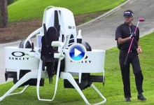 Bubba Watson presenta su Jet Pack, la herramienta perfecta para moverse por el campo (Inc. VÍDEO)