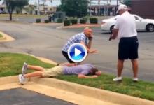 Sin tonterías en Tulsa: Un paisano, detiene a un presunto ladrón de palos a punta de pistola (VÍDEO)